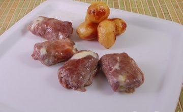 Involtini di carne ai funghi