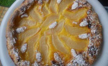 Crostata di crema ai fiori d'arancio