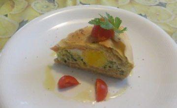Torta Pasqualina di zucchine, ricotta e salmone affumicato
