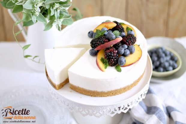 Cheesecake senza cottura allo yogurt