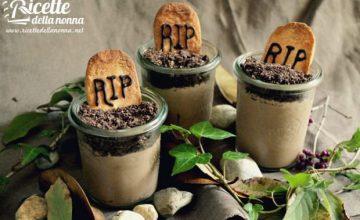 Vasetti cimiteriali al cioccolato di Halloween