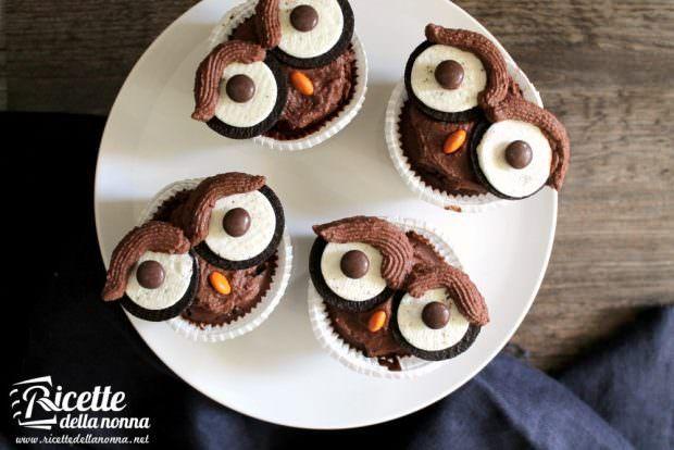 Cupcake civetta di Halloween