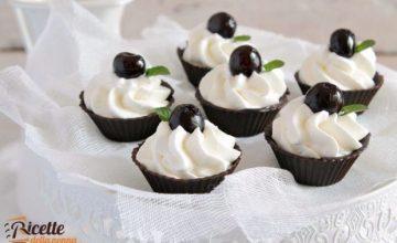 Pirottini di cioccolato con crema alla ricotta