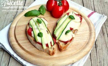 Bruschette rustiche con verdure