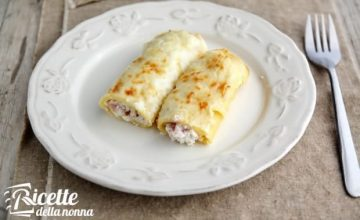 Cannelloni ricotta, prosciutto cotto e fontina