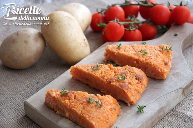 Torta di patate al pomodoro
