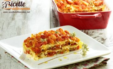 Lasagne light con peperoni al sapore d'estate