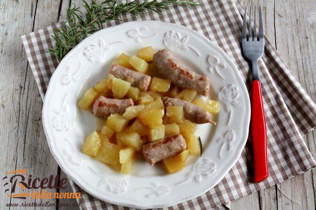 Salsiccia luganega alle patate