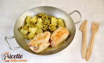 Involtini di carne con mortadella e formaggio