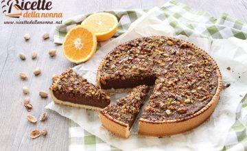 Crostata al cioccolato, pistacchi e arancia