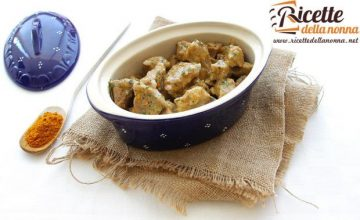 Bocconcini di vitello al curry