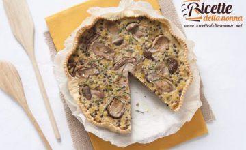 Torta salata di lenticchie e funghi porcini