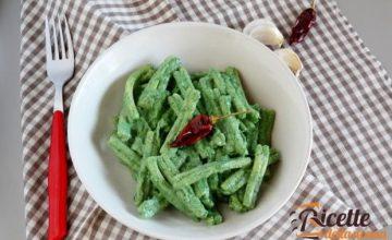 Strozzapreti in crema di cime di broccoli e ricotta