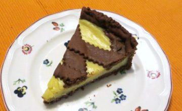 Torta di frolla al cacao e crema al limone