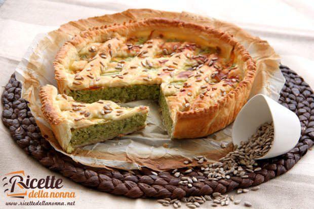 Torta rustica di zucchine e fiori di zucca