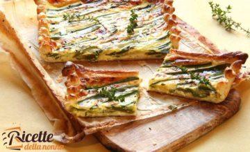 Torta salata con piattoni e zucchine