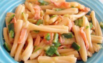 Casarecce salmone e zucchine