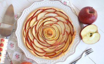 Crostata di mele con pasta sfoglia