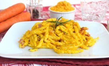 Pasta con pesto di carote