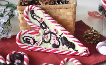 Cuori di candy cane al cioccolato