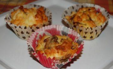 Muffin salati funghi e fontina