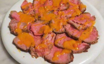 Roastbeef con emulsione di pomodorini