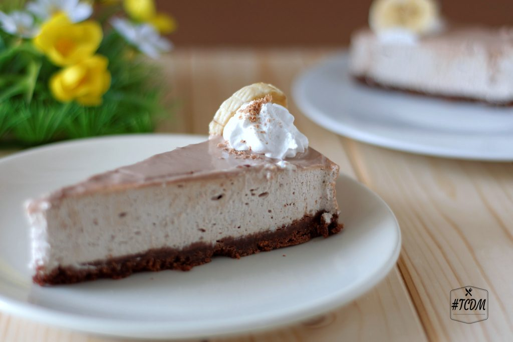 Cheesecake alla banana e cioccolato Kinder