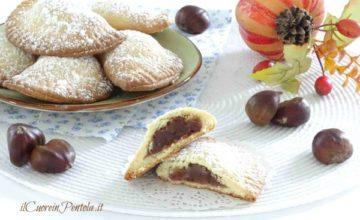 Biscotti con crema di castagne