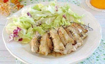 Petto di pollo intero al forno