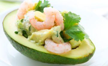 Insalata di avocado con gamberetti