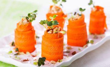 Colorati involtini di carote e hummus: ecco la ricetta