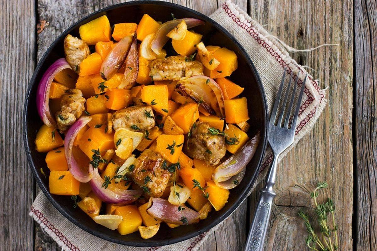 Straccetti di pollo con zucca alla paprika: troppo buoni!