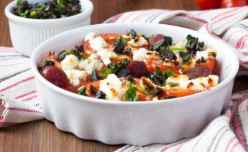 Feta al forno con verdure arrostite, un ottimo contorno!