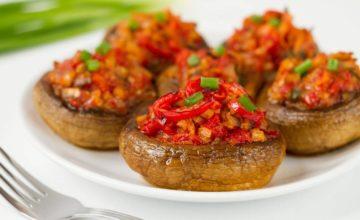 Funghi ripieni vegan: troppo buoni!
