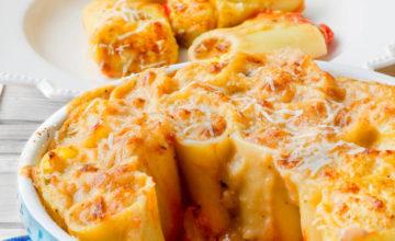 Paccheri al forno con zucchine e speck