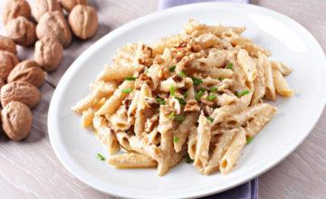 Pasta gorgonzola e noci: cremosa e croccante allo stesso tempo
