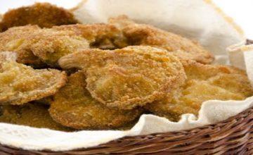 Funghi pleurotus fritti