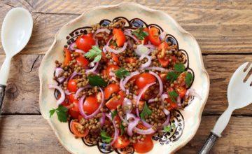 Insalata tiepida di lenticchie