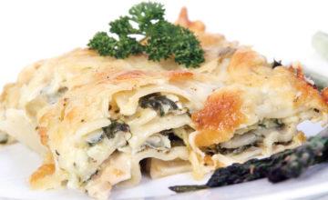 Lasagne asparagi e prosciutto cotto