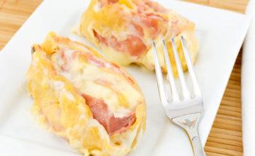 Nidi di rondine con prosciutto e formaggio