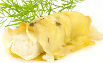 Orata in crosta di patate