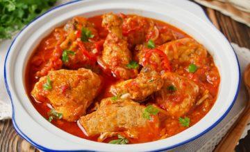 Pollo con i peperoni alla romana