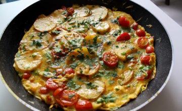 Tortilla piccante di patate e cipolla
