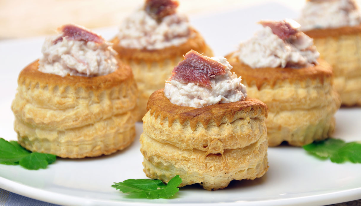 Vol au vent light al tonno