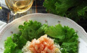 Anello di riso con gamberetti