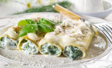Cannelloni con spinaci ai 4 formaggi