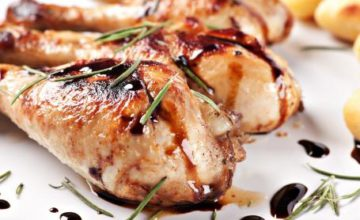Cosce di pollo al miele e aceto balsamico