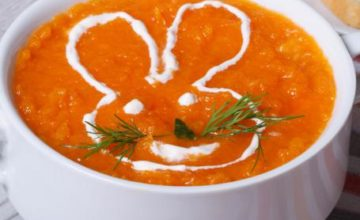 Crema di carote con riso