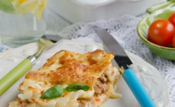 Lasagne con funghi e salsiccia