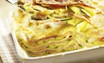 Lasagne con zucchine e prosciutto